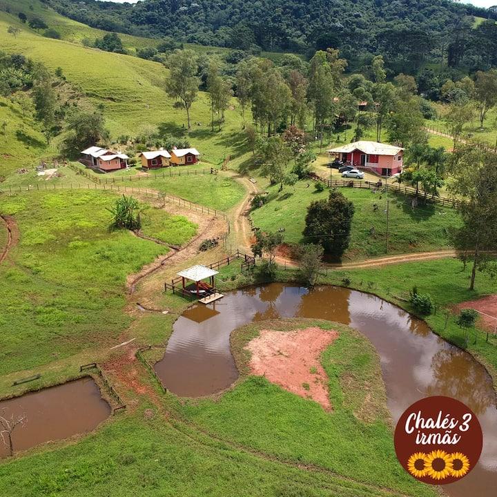 Chalé na Serra da Mantiqueira 3 com banheira