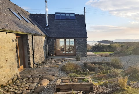 Sea views and a hot tub - welcome to Keillbeg Byre