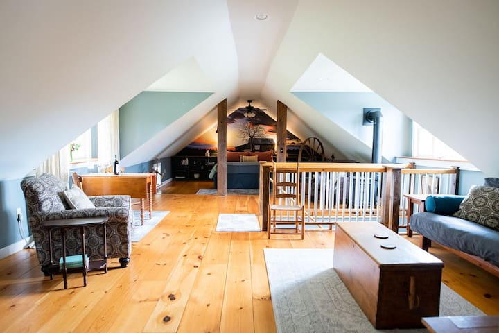 The Suite at the Modern Craftsbury Farmhouse
