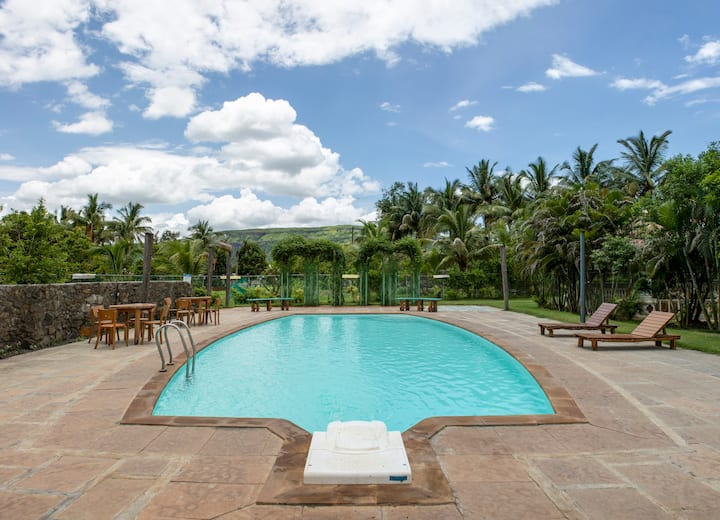 Farm-Stay with Private Pool & Lawn near Panvel