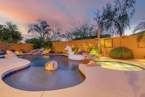 Modern Southwest Resort Style Home w/Pool+Hot tub!