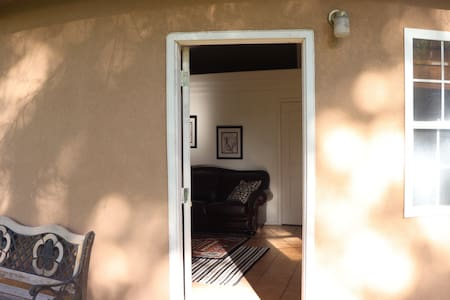 Front door entry into the common living area.