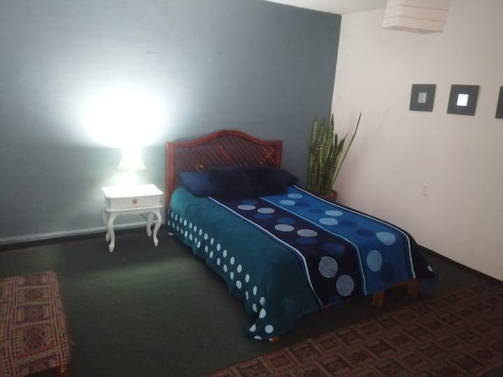 Armoniosa, amplia y bonita habitación.