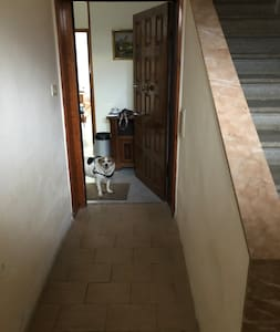 Questo è il corridoio più stretto. Mio nonno disabile in carrozzina ci accede bene