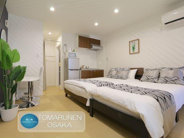 NK2 新建公寓套房,现代风格,时尚设计,宁静舒适,优越位置,直达梅田,天神桥筋商店街