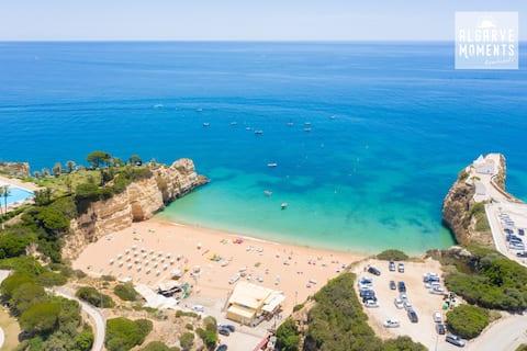 Piscina i platja al centre de l'Algarve amb aire condicionat