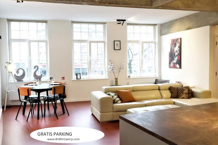 Antwerp Centre incl FREE PARKING / GARAGE (ALESIA)