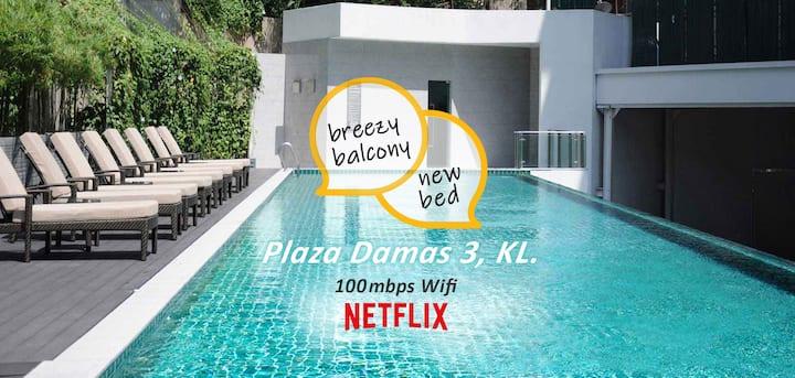 Safe Getaway ★ Netflix, Balcony, Sri Hartamas Mall