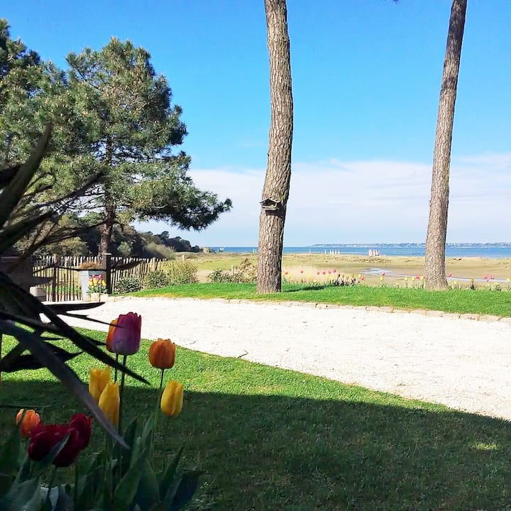 Maison vue mer, piscine et accès direct à la plage