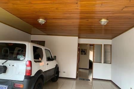 Light on garage and entrance