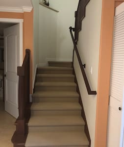 Stairway to the loft / third bedroom