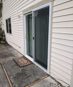 In addition to the front door and garage entrance there is the slider off the patio in the back yard.