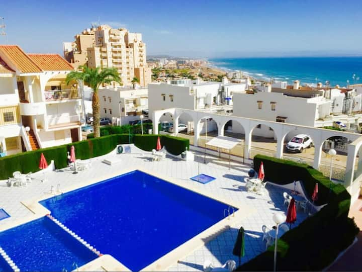 Apartment - Balcony, Sea Views & Pool by the Beach