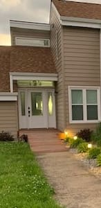 Front Door accessible ramp with lit walkway