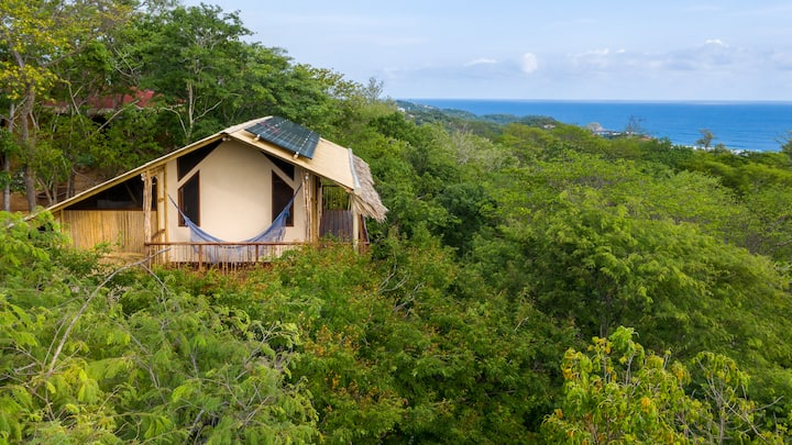 Eco-house in forest with Ocean View