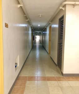 The hallway in the 6th-floor measures to 149cm wide.