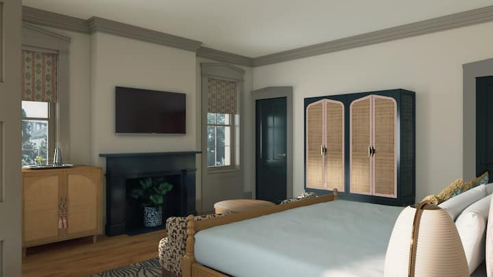 The Roberts House - King Room with Twin Bed