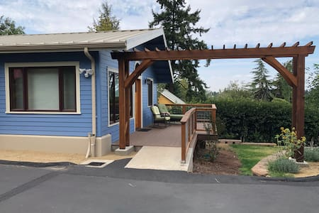 """The ramp is 48"""" and the door at least 35"""". The ramp has a very mild incline to help deal with water."""