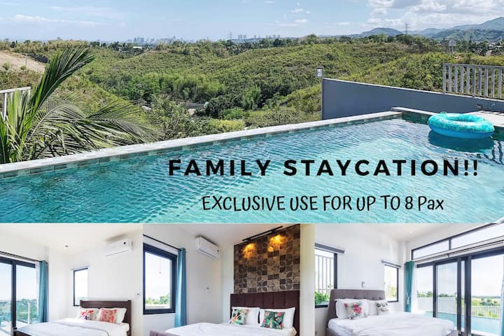 4BR Villa Infinity Pool in Cebu! Family Staycation