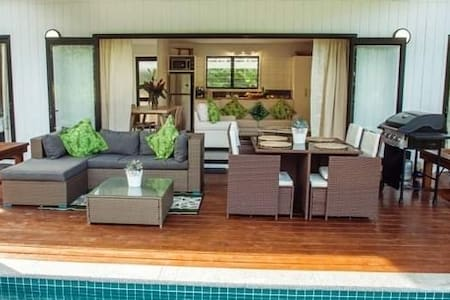Large Bi Fold doors for easy access to  and from the villa as well as creating great living spaces both indoors and outdoors.