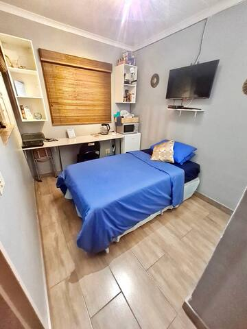 New renovated fully furnished self-catering studio apartment with all the basic essentials and ideally located near the heart of Sandton.