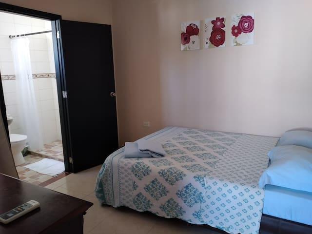 habitacionh # 5. una cama doble.