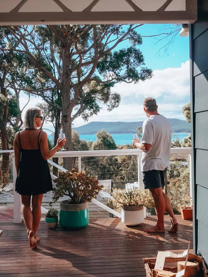 Boho Cottage, close Port Arthur, beach, ocean view