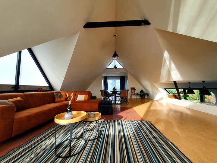 Villa Sagittarius met sauna, bij bos en IJsselmeer