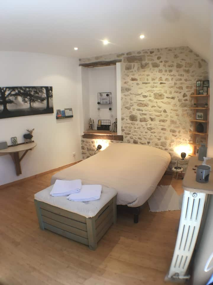 Trois Pignons-Chambre spacieuse et chaleureuse
