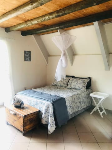 Double Bed downstairs is cosy and comfortable, with bathroom en-suite