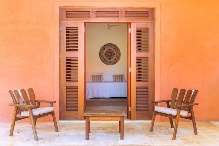 Each bedroom has its own terrasse