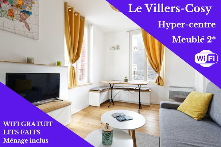 Le Villers-Cosy ❤️  Hyper centre-Wifi-50m plage !!