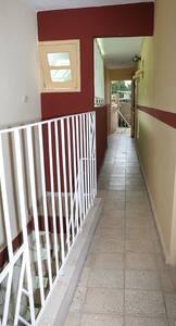 Pasillo de acceso a las habitaciones