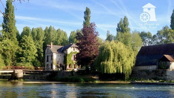 Gîte sur île privée - le Moulin de l'Isle Auger