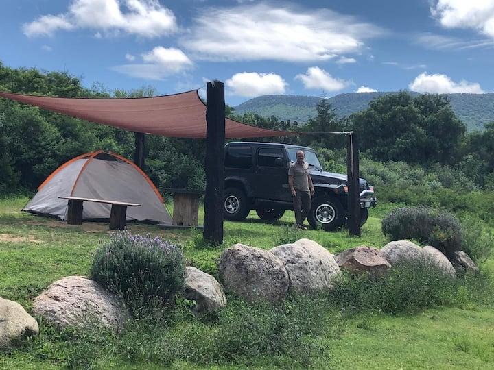 Acampa en las proximidades de Sierra de Lobos