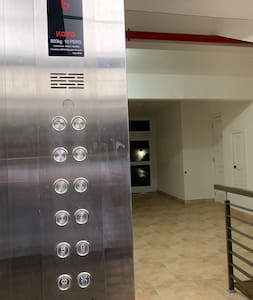 Main entrance inside elevator