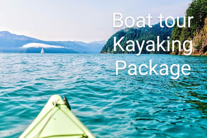 Boat Tour, Kayaking and Lodging Package #4