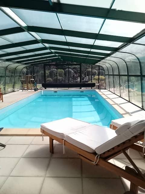 ❤️ Ambiente verde❤ ️ estúdio chique❤ ️ piscina de 30°