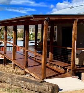 Well lite access ramp and veranda entry