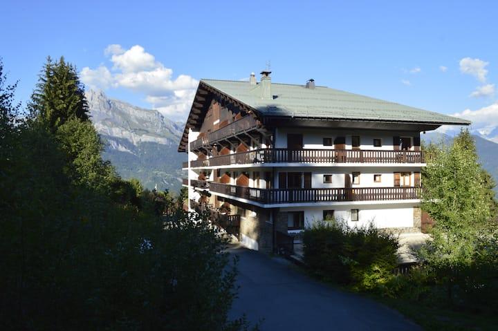 Appartement avec piscine, Résidence proche Megève