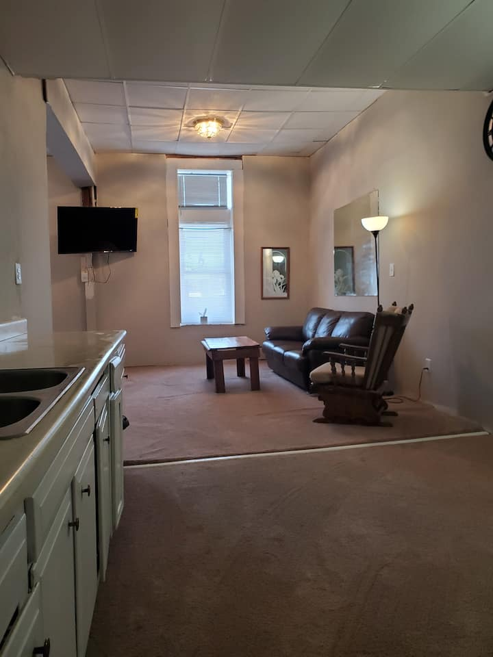 One bedroom upstairs apartment