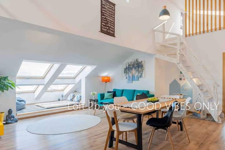 Unique airy Loft2b ❂relax❂work-cation❂views&free℗