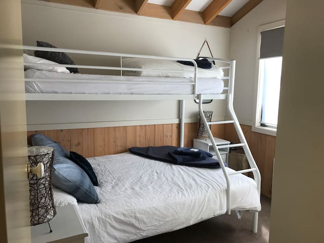 Double/single bunk room with built in robes.