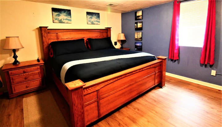 Romantic Suite-$1800 King Mattress, Shower for Two