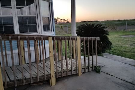 Ramp from driveway.