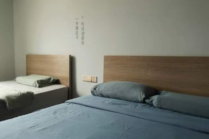 方言民宿·三个房间(两个亲子房,一个双人房,都有独立卫生间)