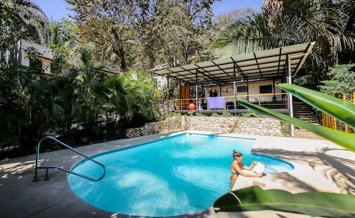 Surf&Yoga Priv AC, pool, 2´to beach, Yoga Included