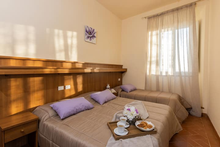 Private room in bed and breakfast in Cortona