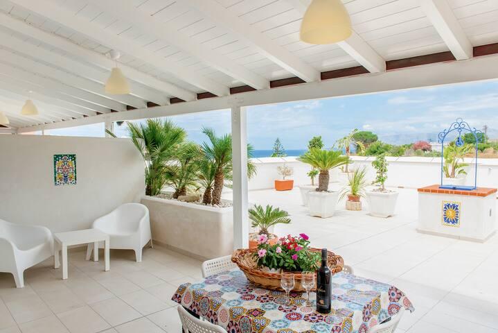 Appartamento in villa 150 metri dal mare wi fi GA