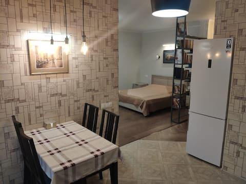 Hyggelig lejlighed med 1 soveværelse, udstyret med kærlighed